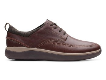 Clarks Garratt Street Mahogany Leather
