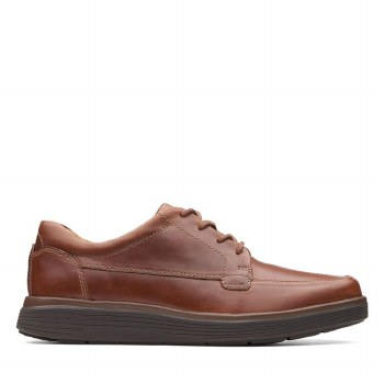 Clarks UnAbode Strap Tan Leather Wide Fit