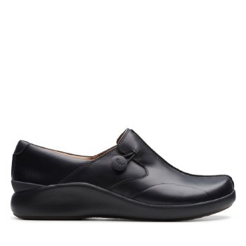 Clarks Unloop2 Black Leather