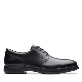 Clarks UnTailor Tie Black Leather