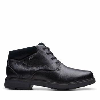 Clarks UnTread GTX Black Leather