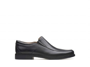Clarks UnAldric Walk Black Leather