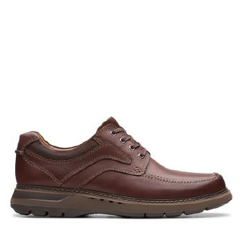Clarks UnRamble Lace Mahogany Leather