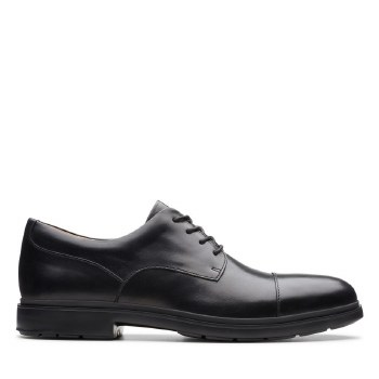 Clarks UnTailor Cap Black Leather