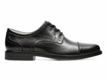 Clarks UnAldric Cap Black Leather