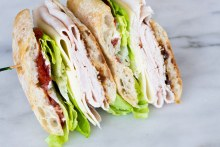 Turkey and Provolone Sandwich
