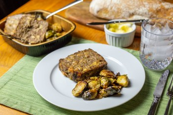 Meatloaf & Brussel Sprouts