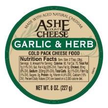 Ashe County - Garlic & Herb Cheese Spread