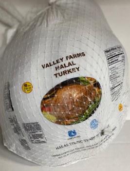 HALAL WHOLE TURKEY 16 LB @1.69 per LB