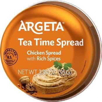 Argeta Tea Time Spread, Chicken Spread with Spices 3.35oz