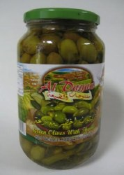 Al Dayaa Green Olives with Thyme 900g