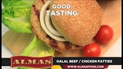 Almas Chicken Patties, Halal, 1lb