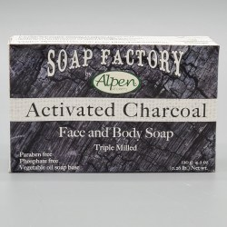 Alpen Secrets Face and Body Soap Activated Charcoal 120g