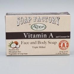 Alpen Secrets Face and Body Soap Vitamin A 120g