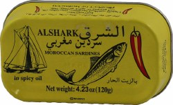 Alshark Sardines in Spicy Oil 4oz