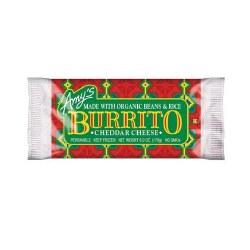 Amy's Beans Rice Cheddar Burrito 6oz