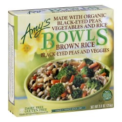 Amy's Bowls, Brown Rice Black eyed Peas and Vegetables 9oz