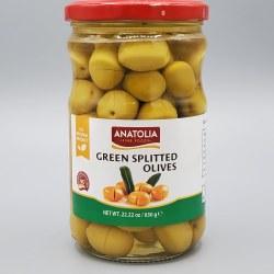 Anatolia Green Cracked Olives 630g