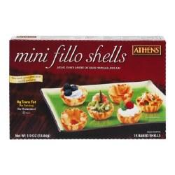 Athens Mini Fillo Shells 15pc