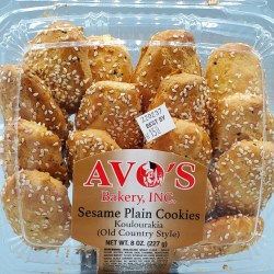 Avo's Sesame Plain Cookies 8oz