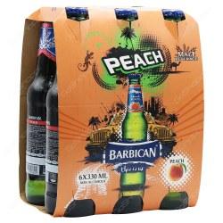 Barbican Malt Beverage Peach Flavor 6 x 330ml