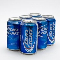 Bud Light Beer Can 6 pack