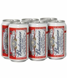 Budweiser Beer In Can 6 pack