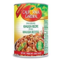 California Garden Fava Beans Khaligia Recipe 16oz