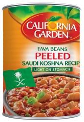 California Garden Fava Beans Saudi Style Peeled 15 oz