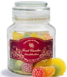 Cavendish and Harvey Fruit Candy Jar 10.5oz