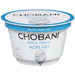 Chobani Yogurt Plain None Fat 6oz