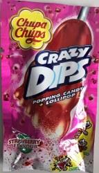 Chupa Chups Crazy Dip Strawberry Lollipop 16g