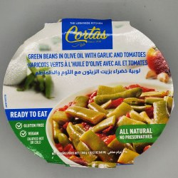 Cortas Green Beans With Garlic Ready To Eat 350g