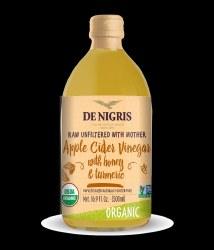 De Nigris Apple Cider Vinegar Turmeric Honey Organic 500ml