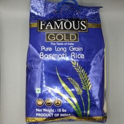 Famous Gold Basmati Rice 10 lb