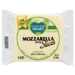 Follow Your Heart Dairy Free, Vegan, Sliced Mozarella Cheese 7oz