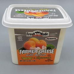 Fresh Made Apricot Farmers Cheese 16 oz