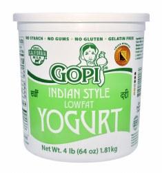 Gopi Yogurt Plain Lowfat 64oz