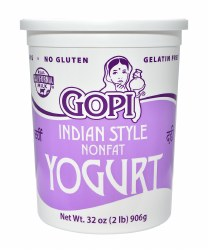 Gopi Yogurt Plain Nonfat 32oz