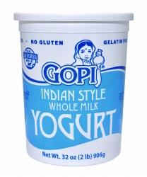 Gopi Yogurt Plain Whole Milk 32oz