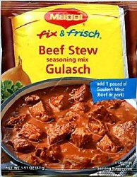 Maggi Beef Stew Goulash Mix 1.55oz