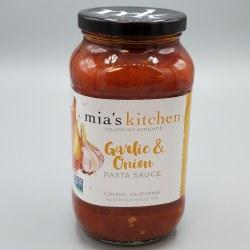 Mia's Kitchen Garlic Onion Pasta Sauce 25oz