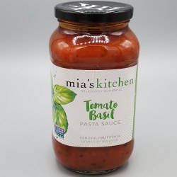 Mia's Kitchen Tomato Basil Pasta Sauce 25oz