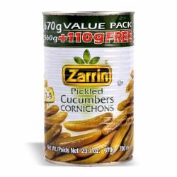 Zarrin Pickled Cucumbers 672g can