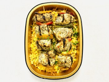 Phoenicia Chicken Kabob with Pilaf Meal