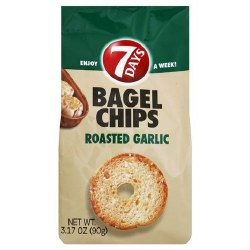 7 Days Bagel Chips Garlic 3 oz