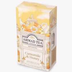 Ahmad Camomile Honey 15 pyramid bags