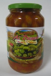 Al Dayaa Green Olives with Shatta 900g