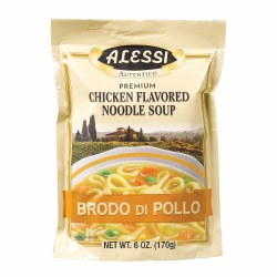 Alessi Chicken Flavored Noodle Soup 6oz