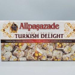 Alipasazade Turkish Delight Coconut & Pistachio 1lb